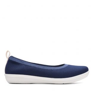 Clarks Ayla Paige Navy Womens Shoes
